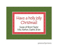 Christmas Dots & More Dots Evergreen Personalized Holiday Enclosure Card