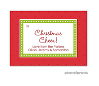 Christmas Dots & More Dots Poppy Personalized Holiday Enclosure Card