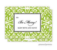 Holiday Pretty Pattern Grasshopper Personalized Holiday Enclosure Card