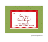 Christmas Dots & More Dots Cilantro Personalized Holiday Sticker