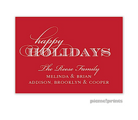 Solid Ruby Personalized Holiday Sticker