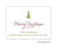 Solid White Personalized Holiday Sticker