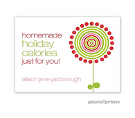 Holiday Lollies White Personalized Holiday Sticker