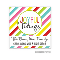 Joyful Tidings Personalized Holiday Sticker