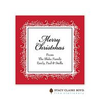 Snowdrift Ruby Holiday Flat Enclosure Card