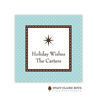 Jolly Holiday Blue Holiday Flat Enclosure Card