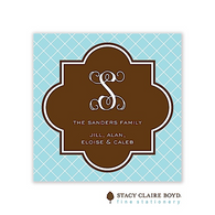 Chic Holiday Flat Enclosure Card