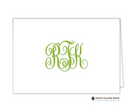 Clean & Simple-0018 Personalized Folded Notecard