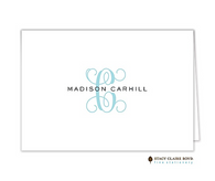 Clean & Simple-0014 Personalized Folded Notecard