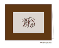 Classic Statement Taupe Personalized Folded Notecard
