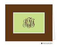Classic Statement Green Personalized Folded Notecard