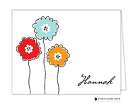 In Bloom Personalized Folded Notecard