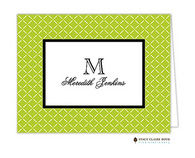 Trailing Trellis Green Personalized Folded Notecard