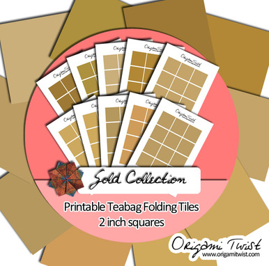 Gold 10 page Teabag Folding Collection