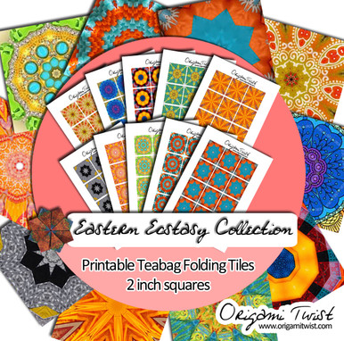 Eastern Ecstasy 10 Page Teabag Folding Tile Collection - Downloadable Printable