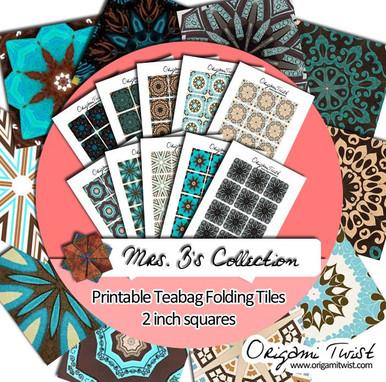 Mrs. B Printable Teabag Folding Tiles 10 Page Collection