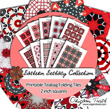 Scottie & Westie Printable Teabag Folding Tiles 10 Page Collection
