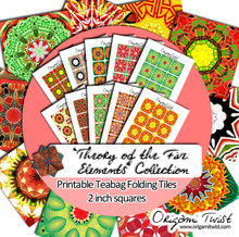 Theory of the Five Elements Printable Teabag Folding Tiles 10 Page Collection
