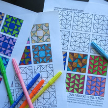 COLORING PAGES QUILT BLOCK 1 COLLECTION