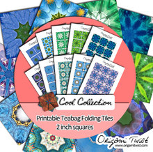 Cool Collection - Origami Twist Teabag Folding Tiles - 2 inch squares