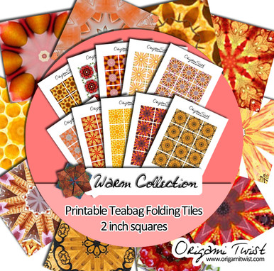 Warm Collection - Origami Twist Teabag Folding Tiles - 2 inch squares