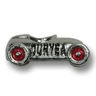 Sterling silver Duryea Hillclimb charm. Made in the USA