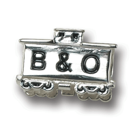 Sterling silver B&O Railroad car charm