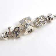 Philadelphia Charm Bracelet Set in Sterling Silver