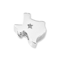 Sterling silver Texas charm. Made in the USA