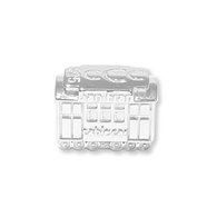 San Francisco Cable Car sterling silver slide charm