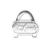 St. Louis Gateway Arch sterling silver slide charm. Made in the USA