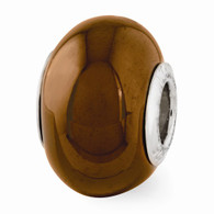 Brown Ceramic Bead