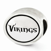 Sterling silver Minnesota Vikings Bead