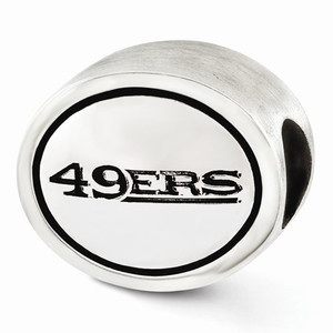 Sterling Silver San Francisco 49ers Bead