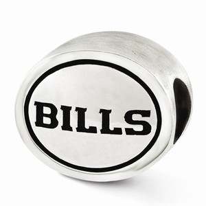 Sterling Silver Buffalo Bills Bead