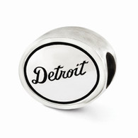 Sterling silver Detroit Tigers MLB bead fits Pandora-type jewelry