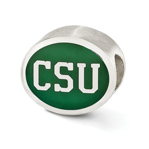 Sterling silver Colorado State University Bead fits Pandora