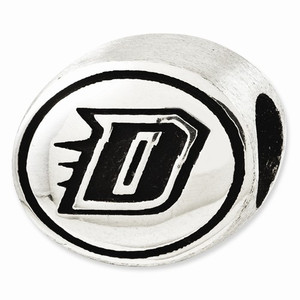 Sterling silver DePaul University Blue Demons Bead.