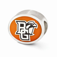 Sterling silver Bowling Green University bead. Pandora compatible.