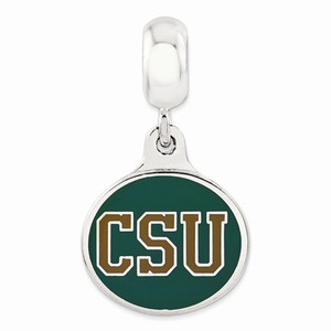 Sterling silver Colorado State University Charm fits Pandora