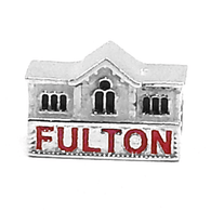 Sterling silver Lancaster Fulton Theatre charm