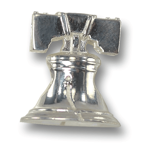 Sterling silver Liberty Bell Charm. Made in the USA
