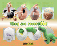 Rich the Ostrich Egg: Pack of 10 Reversible Plush Eggs