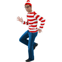 WHERE'S WALDO COSTUME KIT ADULT L/XL