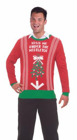 KISS ME UNDER THE MISTLETOE ADULT SWEATER