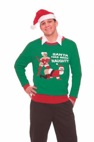SANTA HAS BEEN NAUGHTY ADULT SWEATER