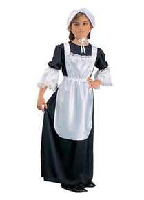 Pilgrim Girl Black Child Costume