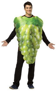 GET REAL BUNCH OF GREEN GRAPES ADULT COSTUME