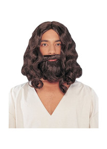 JESUS BIBLICAL WIG & BEARD SET