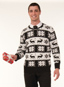 CHRISTMAS SWEATER SNOW DRIFT ADULT